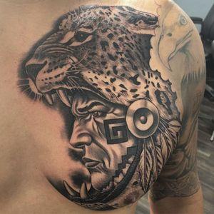 Aztec tattoo by Sal Elias #SalElias #Aztectattoo #Aztectattoos #Aztec #Mexican #Mesoamerica #PreColombian #ancientculture