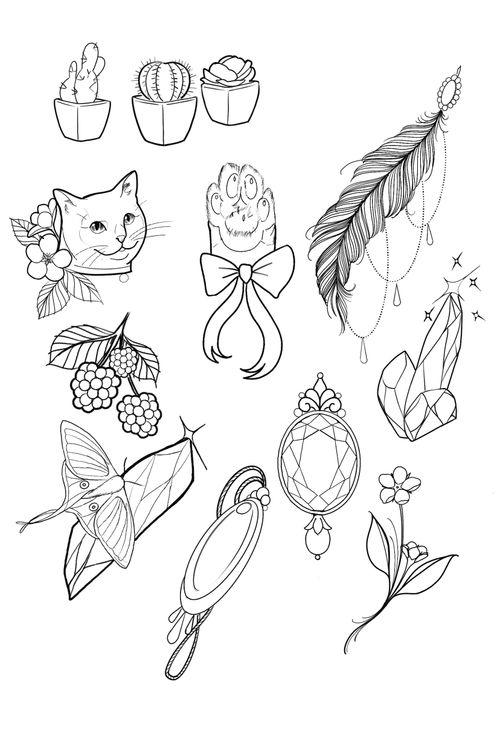 Small tattoo ideas #flash