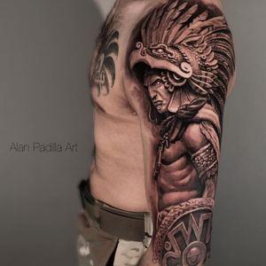 Aztec tattoo by Alan Padilla #AlanPadilla #Aztectattoo #Aztectattoos #Aztec #Mexican #Mesoamerica #PreColombian #ancientculture