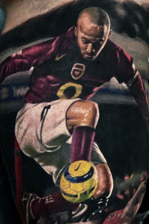 Thierry henrry sooccer player of the arsenal done at @puedmaginkpire toronto canada