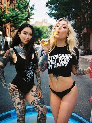 Female Tattooers - Megan Massacre and Alisha Gory #MeganMassacre #AlishaGory #FemaleTattooers #ladytattooers #ladytattooartist #femaletattooartist