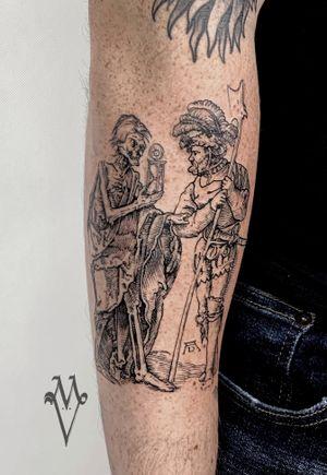 Albrecht Durer tattoo, gravure, death tattoo