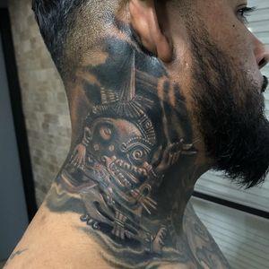 Aztec tattoo by Roberto Castillo #RobertoCastillo #Aztectattoo #Aztectattoos #Aztec #Mexican #Mesoamerica #PreColombian #ancientculture