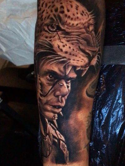 Aztec tattoo by Carlos Tolentino #CarlosTolentino #Aztectattoo #Aztectattoos #Aztec #Mexican #Mesoamerica #PreColombian #ancientculture