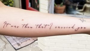 It was then that I carried you quote tattoo