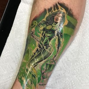 First session on #dc heroes leg sleev
