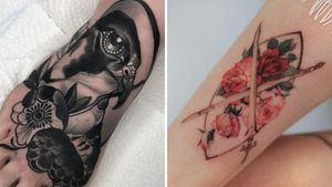 Beautiful tattoo on the left by Lorena Morato and beautiful tattoo on the right by Woohwa Fable #WoohwaFable #Woohwa #LorenaMorato #beautifultattoos #beautifultattoo #beautiful #tattooidea #besttattoo #awesometattoo #cooltattoo