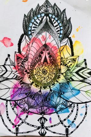 Vorlage Dotwork+Watercolor. Wird bald gestochen