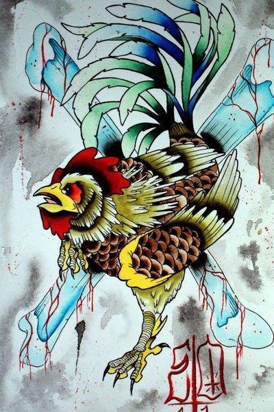 Gallo de pelea disponible citas y consultas por mail a edwardtattoo13@gmail.com o whatsapp al 640036355 #traditionaltattoo #rooster #roostertattoo #tattoo #neotraditionaltattoo #edwardortiztattoo