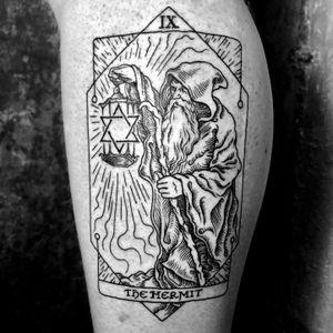 The Hermit ✨ #tarot ➕➕➕➕➕➕➕➕➕➕➕➕➕➕➕➕➕➕➕➕➕➕➕➕➕➕➕➕➕➕➕➕➕➕➕➕➕➕➕➕➕➕➕➕➕➕➕➕➕➕➕ Thank you Joe! 🙏🏼 #thehermit #tarotcard #woodcuttattoos #sealofsolomon #blackwork #medieval #woodcut #engravingtattoo #engraving #illustration #occult #woodcuttattoo #tarottattoo #tattoo #illustration #alchemy #magick #witchcraft #heathen #ink #pagan #NYC #darkart