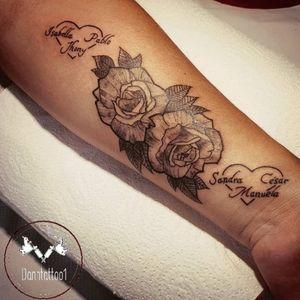 #tatuaje #tattoo #ink #blackandgray #rosetattoo #rosestattoo #tattoofamily #familiatattoo #familia #corazon #amordefamilia #tatuajefamilia #hearttattoo #heart #tatuajerosas #rosastattoo