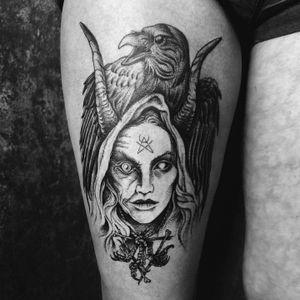 #BabaYaga 👁 Thank you Yara 🙏🏼 Linework healed, Shading Fresh 🗡 ➕➕➕➕➕➕➕➕➕➕➕➕➕➕➕➕➕➕➕➕➕➕➕➕➕➕➕➕➕➕➕➕ #blackwork #witch #tattoo #medieval #darkart #linework #dotwork #illustration #occult #art #raven #gothic #witchcraft #magick #heathen #pagan #folklore #NYC