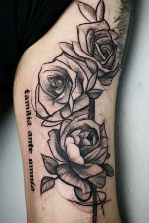 Blackwork Roses