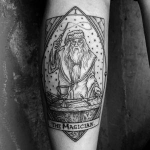 This one was so much fun ✨ #dumbledore #magic #tarot ⚡️🔮🗡➕➕➕➕➕➕➕➕➕➕➕➕➕➕➕➕➕➕➕➕➕➕➕➕➕➕➕➕➕➕➕➕#harrypotter #blackwork #dotwork #woodcut #linework #illustration #occult #art #swordofgryffindor #gryffindor #potterhead #jkrowling #housecup #pottermore #harrypotterfan #woodcuttattoo #gothic #tarottattoo #tattoo #illustration #medieval #alchemy #magick #witchcraft #darkart #NYC