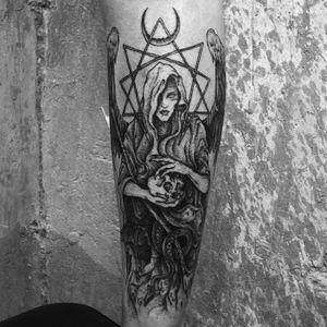 #Angelofdeath #Azrael 🗡 Linework healed, shading fresh. 👁 Thank you Antonia 🖤 ➕➕➕➕➕➕➕➕➕➕➕➕➕➕➕➕➕➕➕➕➕➕➕➕➕➕➕➕➕➕➕➕ #blackwork #tattoo #medieval #darkart #linework #dotwork #illustration #occult #art #death #gothic #witchcraft #heavenandhell #heathen #blackwork #NYC