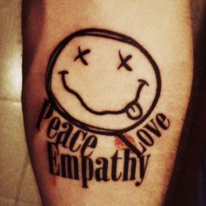 Nirvana grunge peace love empathy rock smile