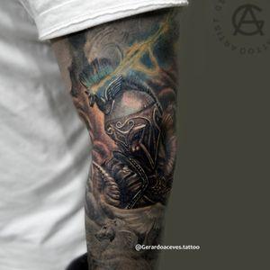 Warriors tattoo pegaso Follow Instagram @gerardoacevestattoo . . . #warrior #warriortattoo #pegasustattoo #blackandgrey #blackandgreytattoo