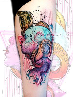 #kuro #kurotrash #tattooart #tattoo #tattooartist #tattooer #tattooist #graphic #design #snaketattoo #snake #snakes #art #graphictattoo #graphictattoos #triangle #colortattoo #color #watercolortattoos #watercolortattoo #watercolor #Tattoodo