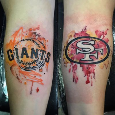 #watercolor #sanfransisco #49ers #giants #football #baseball