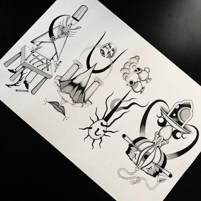 #totemica #tunguska #black #tattoo #flash #drawing #zodiac #sagittarius #capricorn #aquarius #pisces #blackworkers #ontheroad #guest #tattooing #WTT #where_they_tatt #italy #netherlands #spain