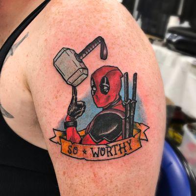 Deadpool is so worthy! #deadpool #marvel #mjnonir #traditional