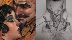 Good tattoo design on the left by Andresinkman and Good tattoo design on the right by Coldgray #Coldgray #ANdres #andresinkman #goodtattoodesigns #goodtattoodesign #tattoodesign #besttattoo