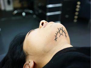 Sigil tattoo by Ant the Elder #AnttheElder #SangBleu #London #sigil #illustrative #medieval #etching #engraving #renaissance #symbol #esoteric #darkart #symbolism #blackwork #linework #chintattoo