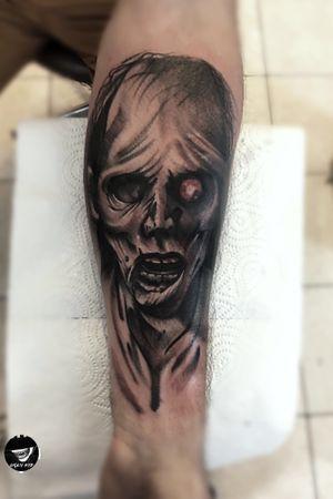 Zombie💀#poland #polska #tattoo #horror #horrortattoo #blackandgrey #blackandgreytattoo #tattoos #creepy #zombietattoo #zombie
