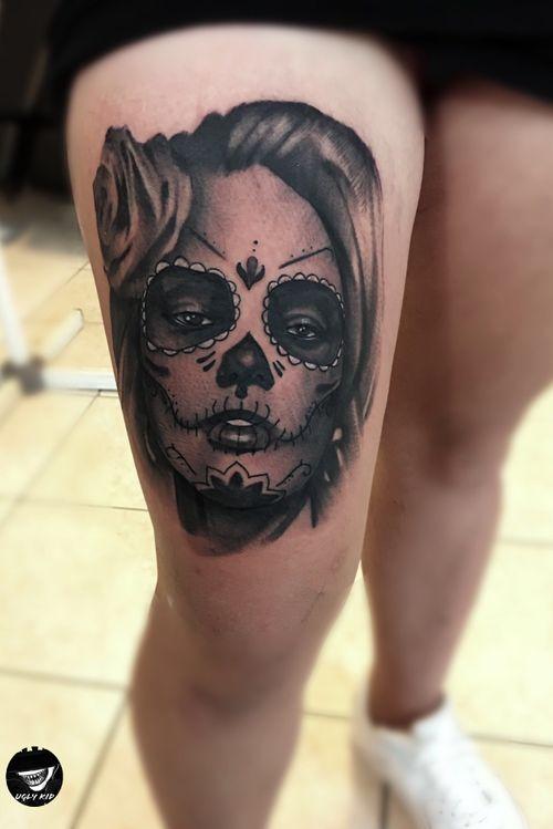 💀#poland #polska #bellamuerte #tattoo #tattoos #blackandgreytattoo #blackandgrey #muerte