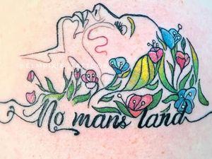 No Mans Land by Elm Pixie Tattoos #ElmPixieTattoos #badasstattoos #womentattoos #womenempowerment #femaleempowerment #queer #femme #female #ladies #reclaim #smashthepatriarchy