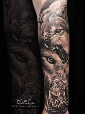 Wolf design tattoo made by meon guest spot in Poland #wolf #wolftattoo #wolfhead #wolfideas #tattoo #tattoodo #tattoos #ink #bng #bngtattoo #besttattoos #realism #realistic #realistictattoo