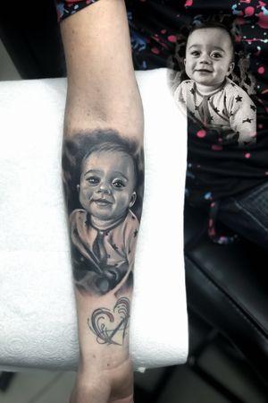 #portraittattoo #realistictattoo #tattoo #ta2 #blackandgreytattoo #colorink
