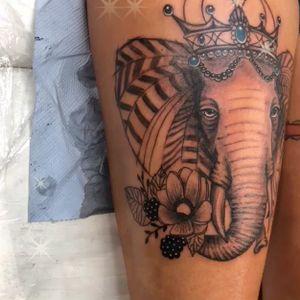 🐘loving freakin' Elephant so I really enjoying doing this beautiful elephant tattoo 🐘😍