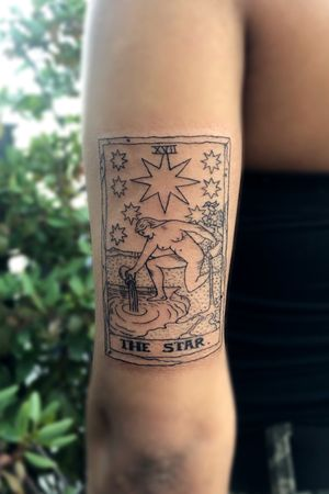 The Star Tarot Card Tattoo #tarotcard #tarot #tarotcardtattoo #star #thestar #thestartattoo