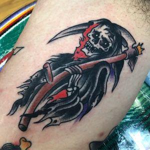#reaper #grimreaper #daveborjestattoo #boundforglorytattoo #statenislandtattoo #tradtattoo #traditionaltattoo #nyctattoo #nyc