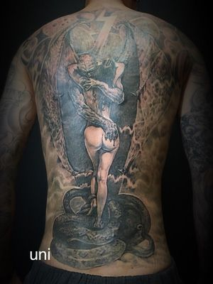unitattoo Boris Vallejo tattoo