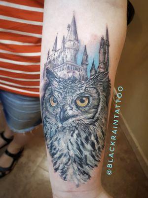 #owl #harrypotter #hogwarts #realism #realistic #odessa #tattooartist #ukrainetattoo