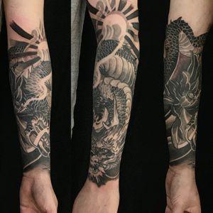 Dragon half sleeve