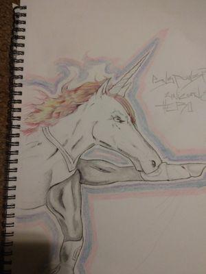 Made up unicorn superhero