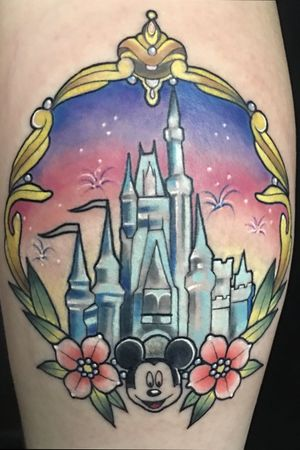 Disney castle with mickey tattoo where dreams come true