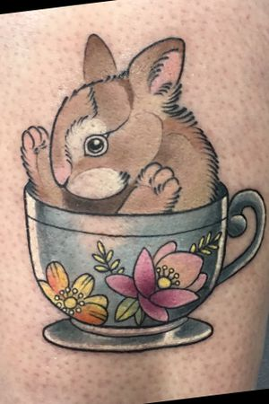 Bunny in teacup