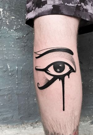 Eye egypt with dots
