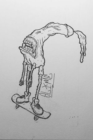 #grosstattoo #suckytattoo #skateboard #dicktat #nsfw