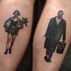 "Matilda and Leon from ""Leon: The Professional"" for Dimitry ▪ #тату #леон #trigram #tattoo #Leon #inkedsense #tattooist #кольщик"