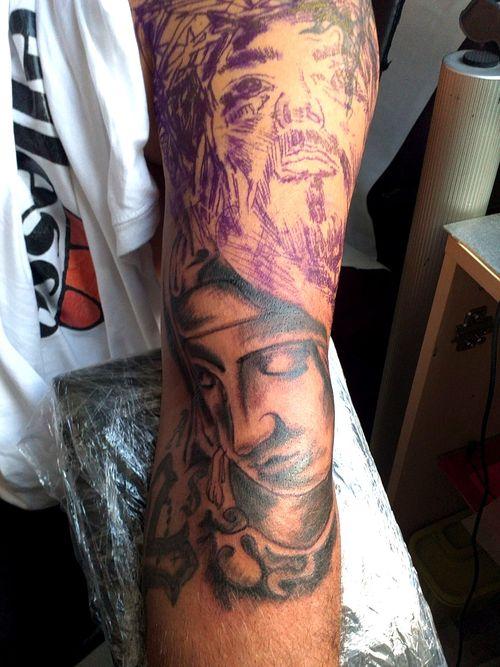 First Session #tattoo #jesus #maria #arm #sleeve #inked #tattoodo #germantattooer#natur #instatattoo #germantattooer #follow #followforfollower