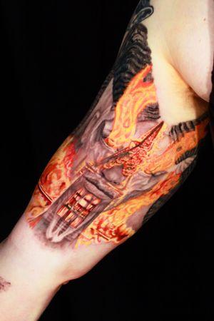 #burningchurch #witch #goatskull #skull #satanic #burn #godless #heathen