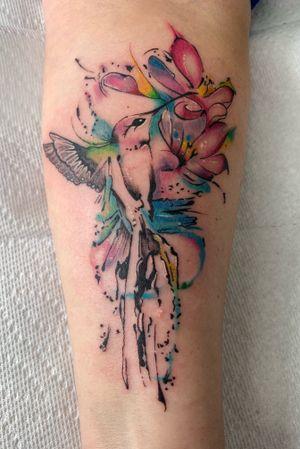 #Hummingbird #watercolour #sketchytattoo