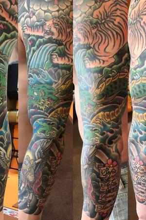 Japanese dragon sleeve