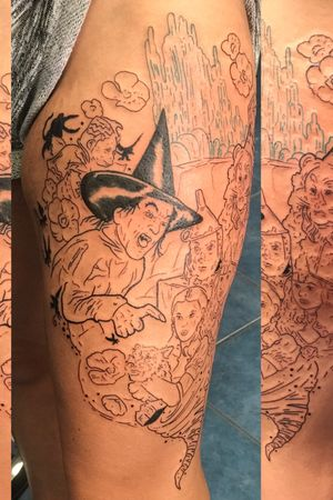 Started on this wizard of oz leg piece on Courtney