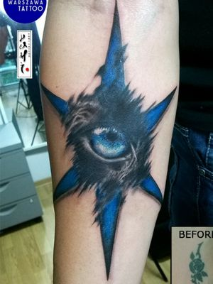 Eye of wild cat - cover up